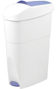 Pedal Operated White Sanitary Bin